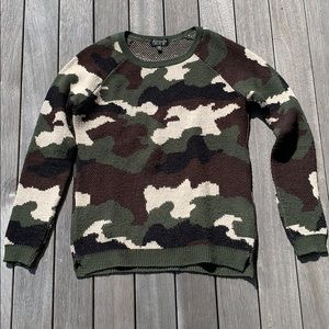 Topshop camo sweater